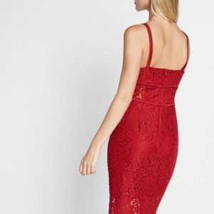 Express Dresses - Express Red Lace Dress